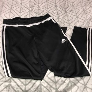 3 side striped Adidas joggers w/ zip able pockets